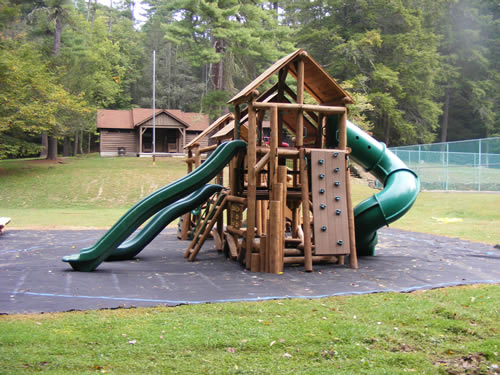 Watoga State Park Rec Hall playground by Bears Playgrounds