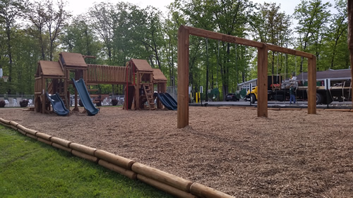 Bears Playgrounds Surfacing Systems Wooden Playground Mulch